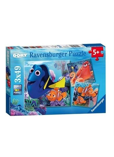 Ravensburger Puzzle 3 x 49 Parça Finding Dory 093458 Renkli